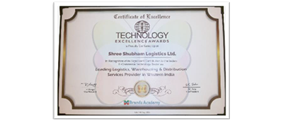 "<p>SSL received ""Certificate of Excellence"" in recognition of its Significant Contribution to the Indian ""E- Commerce Technology Sector"" as ""Leading Logistics, Warehousing & Distribution Services Provider in Western India"" at ""Technology Excellence Award"" Organised by ""Brands Academy"" at Bangalore.</p>"